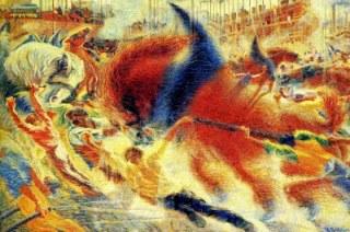 Boccioni; The City Rises, 1910