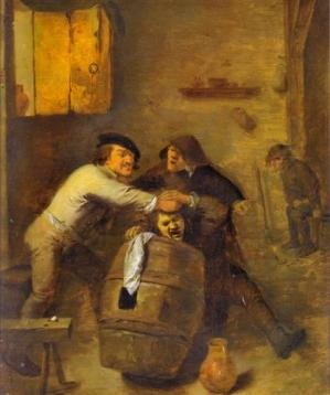 Peasants Quarrelling in an Interior