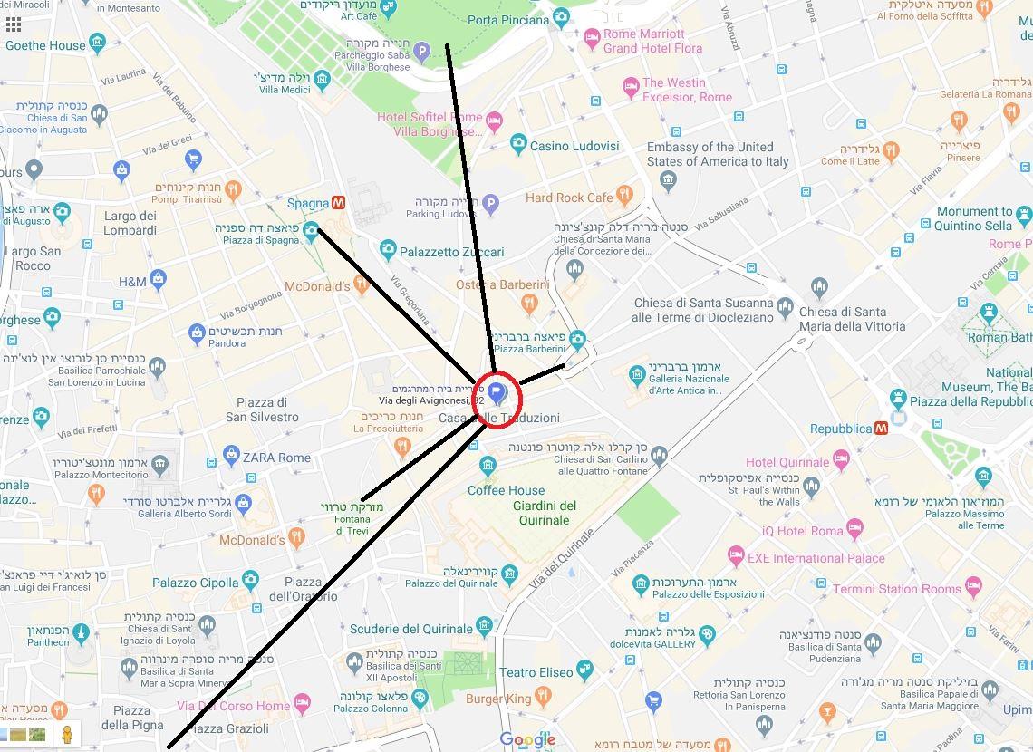 מפה ספרית בית המתרגמים עם חיצים